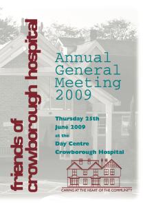 AGM Report 2009