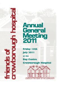 AGM Report 2011