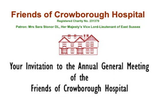 2021 Annual General Meeting of the Friends of Crowborough Hospital