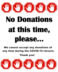 No Fete Donations during Covid-19